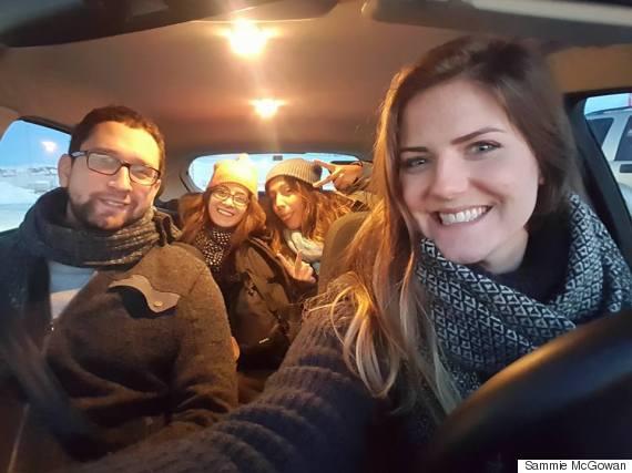 iceland crew in car