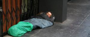 Homeless White Man Street