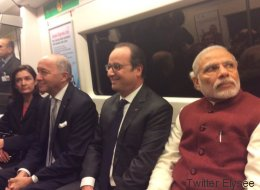 Quand Hollande s'offre un tour de métro à New Delhi