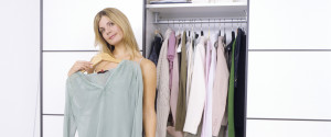 Worried Woman Closet
