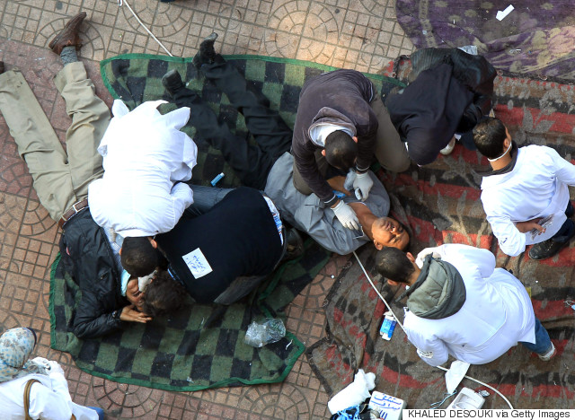 field hospitals november tahrir