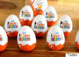 Ne passez pas les frontières américaines avec des œufs Kinder!