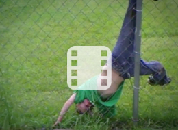 لقطات طريفة لأطفال غاضبين علقوا بالأشجار والألعاب