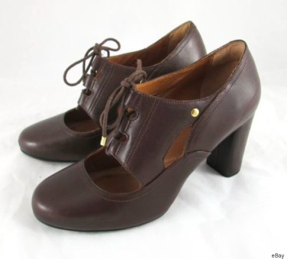 vintage lace up mary janes