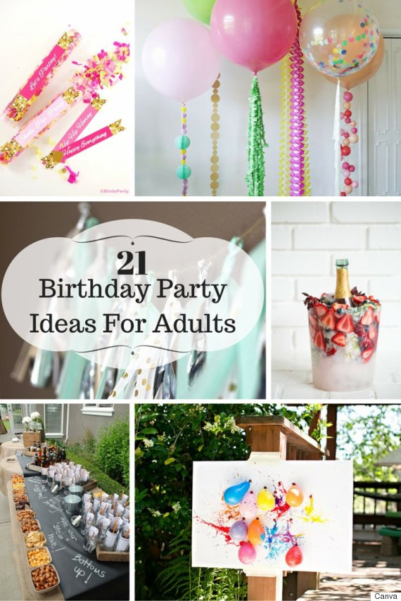 21 ideas for adult birthday parties for Adult birthday decoration ideas