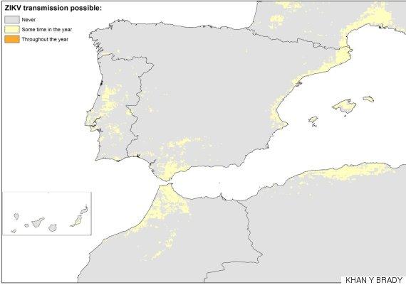 mapa zika
