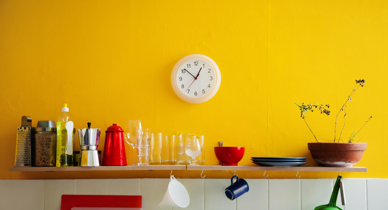 shelves kitchen