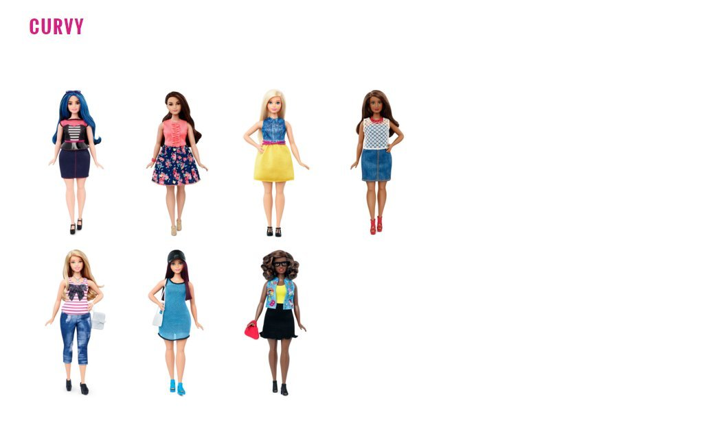 Barbie Body Types: New Barbie Body Types