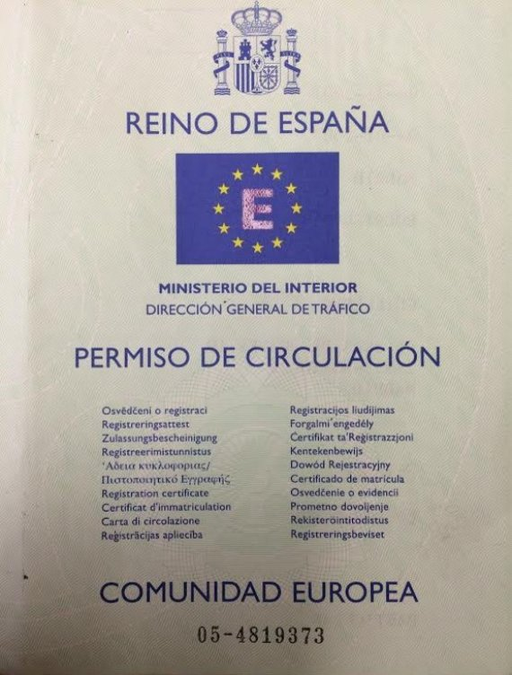 permiso de circulación
