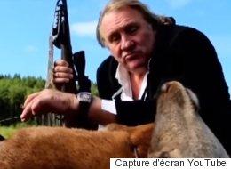 Depardieu joue au chasseur dans cette pub