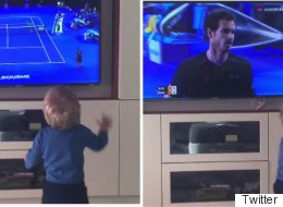 Novak Djokovic's Toddler Can't Contain His Excitement At Spotting Dad On TV