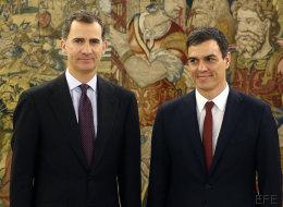 Sánchez traslada al rey que está dispuesto a formar Gobierno si Rajoy renuncia