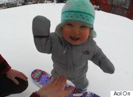 One-Year-Old Snowboarder Has Already Mastered The Slopes