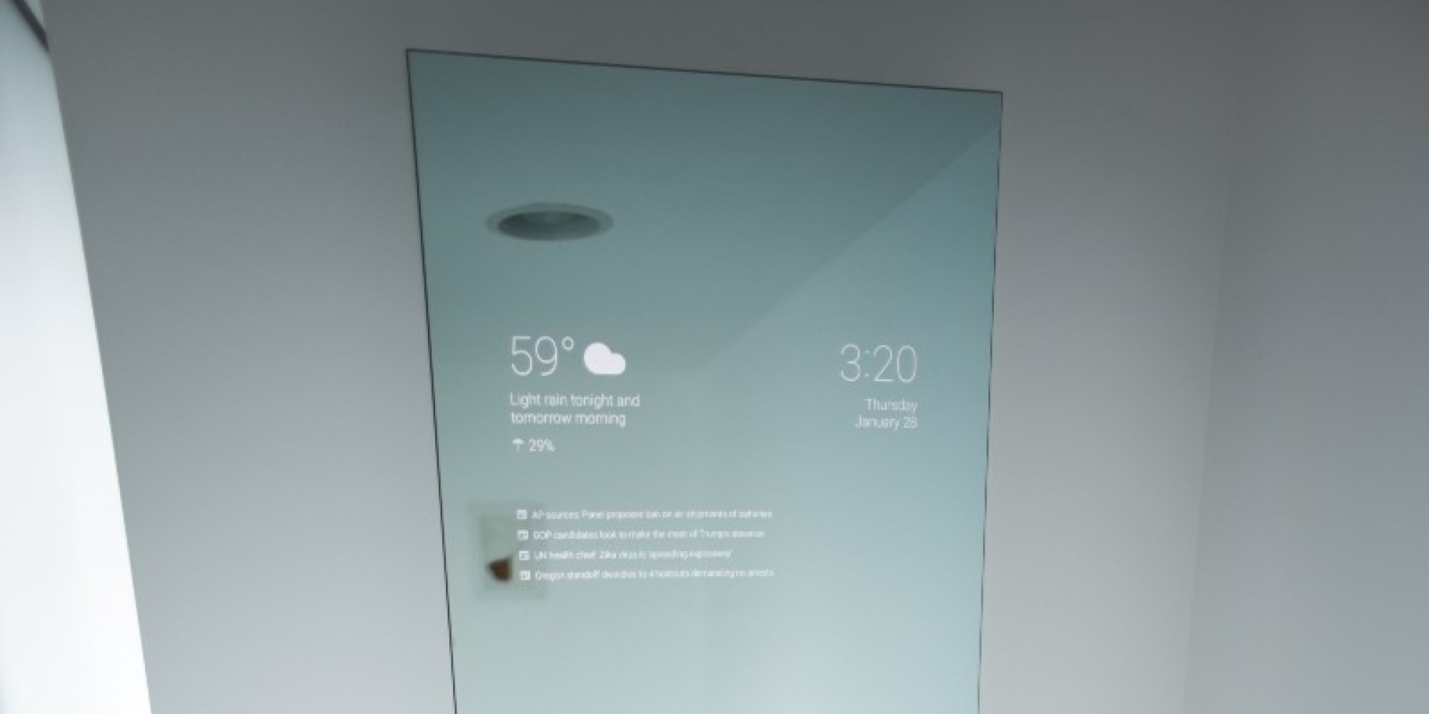 This Android Powered Google Mirror Is Basically The Future