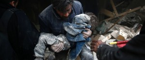 Syrian Child Rubble