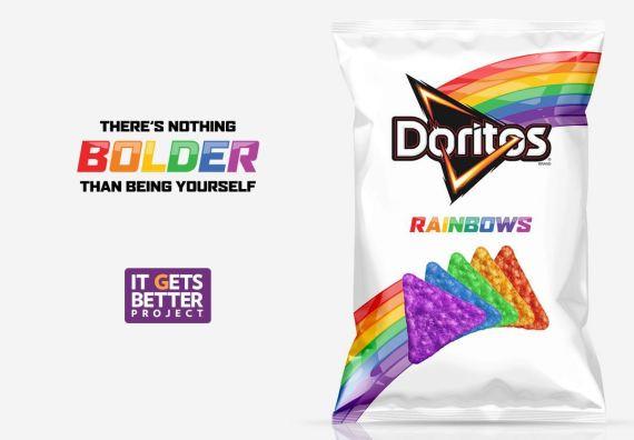rainbow doritos