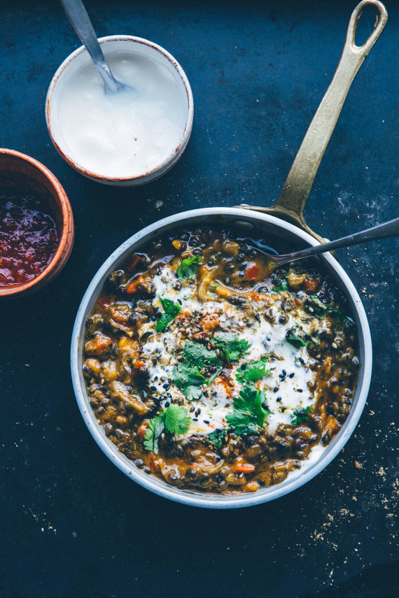 lentil chili with pumpkin