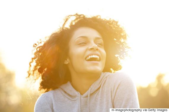 happiness black woman