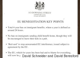 Revealed - Cameron's REAL EU Negotiating Points