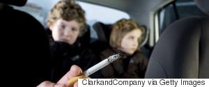 SMOKING CIGARETTE IN CAR CHILD