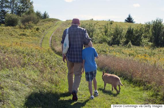 walk the dog father son