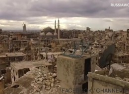 El descorazonador paseo de un 'drone' sobre la ciudad siria de Homs