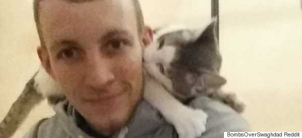 Touching Moment Rescue Cat Chooses Man To Be His New Pet Human