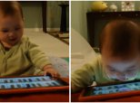 Clever Baby Finds Alternative Way To Play Piano On iPad