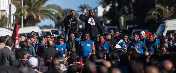 PROTESTS IN TUNISIA