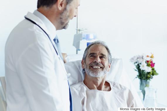 Happy cancer patients