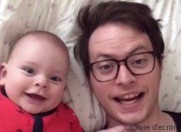 Un père et son bébé se sont amusés sur Dubsmash pendant un an (VIDÉO)