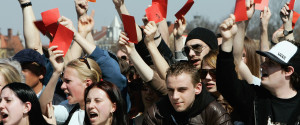 Young Woman Protest Germany