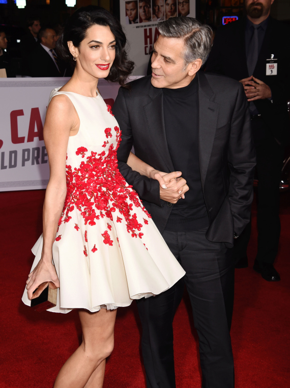 george clooney with his wife