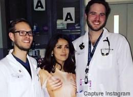 Salma Hayek plaisante sur sa tenue «inappropriée» pour un hôpital
