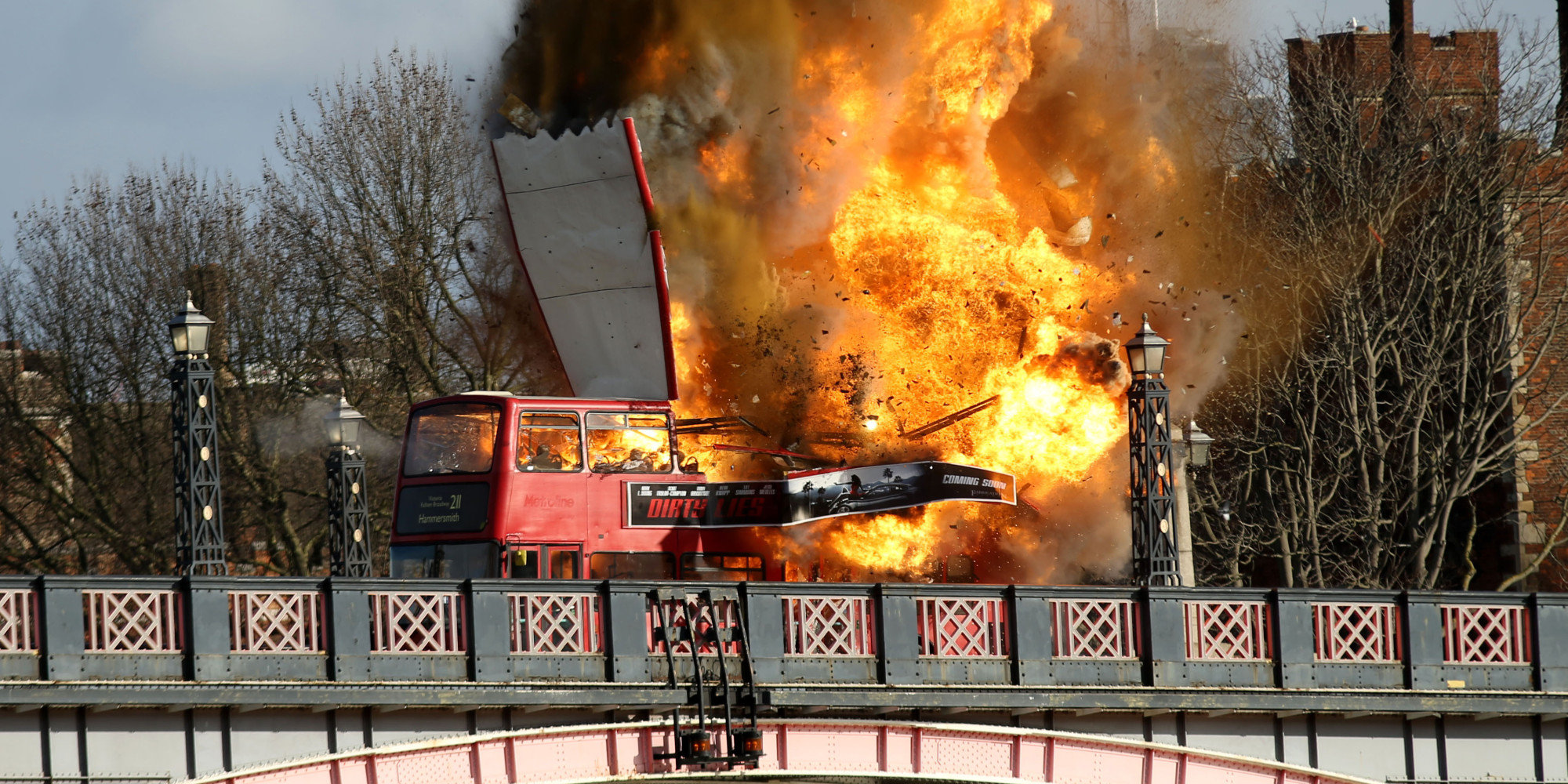 London Bus Explosion On Lambeth Bridge Was Actually Stunt For Latest Jackie Chan Film