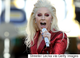 Lady Gaga Dazzles In Red At Super Bowl 50