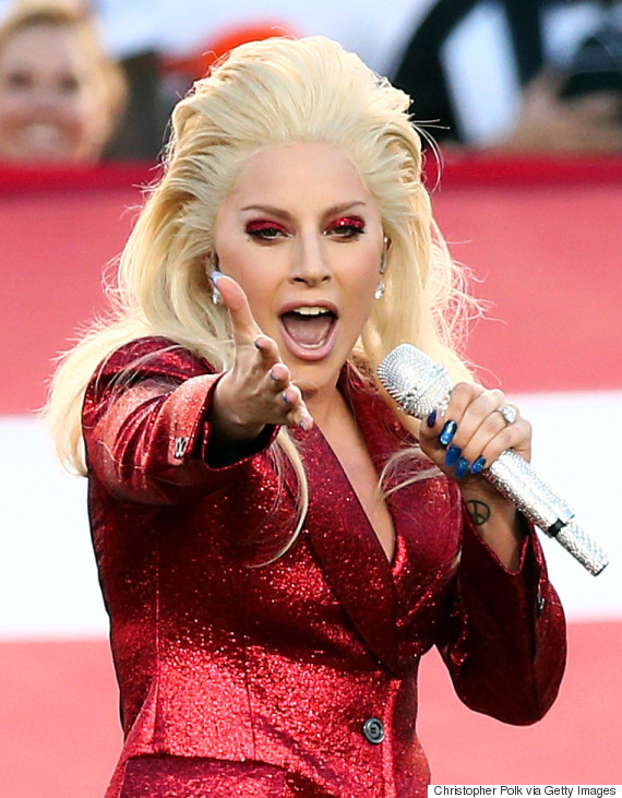 Lady Gaga Wows With Impressive Performance Of US National Anthem At k01pynz0
