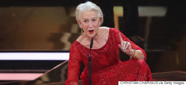 Helen Mirren Suffers Technical Mishap During Awards Speech
