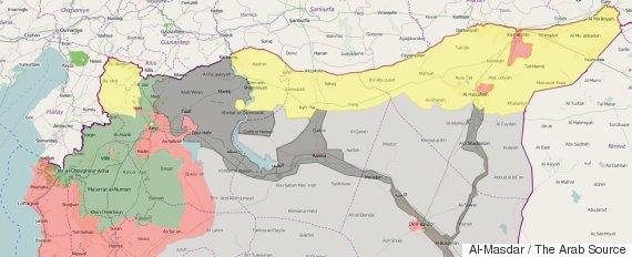 north syria map