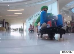 Pranksters Played Real-Life Mario Kart In A London Shopping Centre And It Was Epic