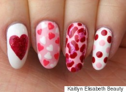 Get Into The Valentine's Day Spirit With This Nail Art Design