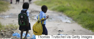 KIDS WALK TO SCHOOL AFRICA