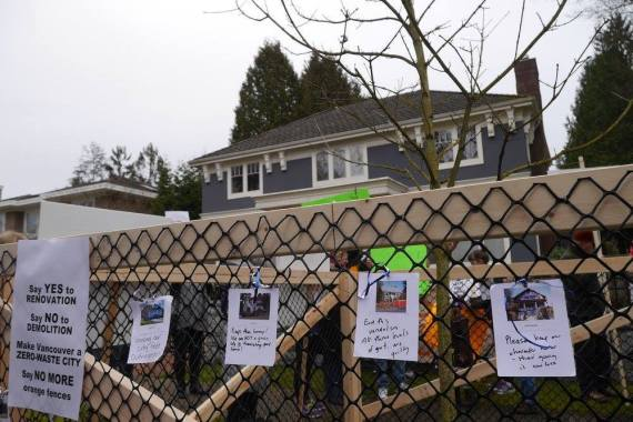 vancouver house protest adera
