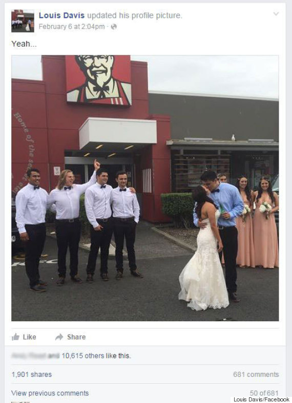 new zealand wedding kfc