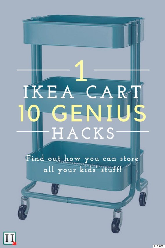 ikea hacks 10 reasons every parent needs the raskog cart. Black Bedroom Furniture Sets. Home Design Ideas