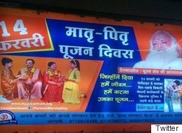 Rape-Accused Asaram Bapu's Followers Are Putting Up  Anti-Valentine's Day Posters Across Delhi Metro