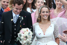 Andy Murray and wife Kim at their wedding | Pic: PA