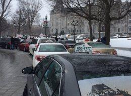 Nouvelle mobilisation des taxis contre Uber (PHOTOS)