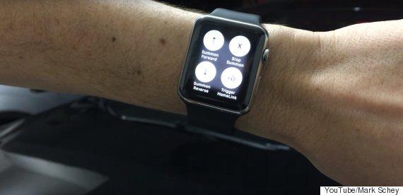 tesla apple watch