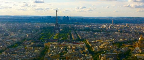 THE VIEW OF PARIS FROM ATOP THE TOUR MONTPARNASSE